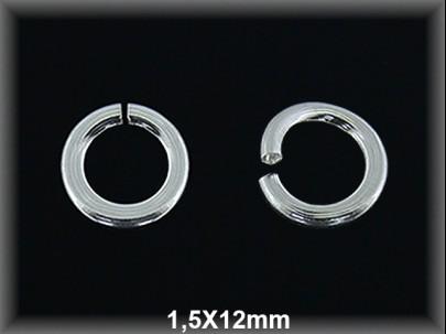 Anilla plata  abierta 1.5 x 12 mm