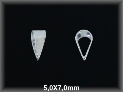 Anilla plata  soldada colgante 5x7mm