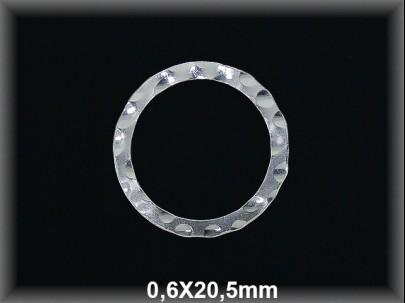 Anilla plata  soldada  bullon  2.2x20.5 mm