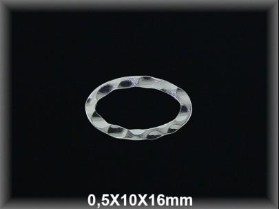 Anilla plata  soldada oval bullonada 1.8x10x16 mm