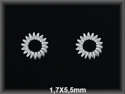 Anilla plata  soldada muelle 1.7x5.5 mm
