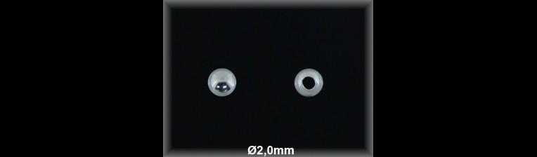 Fornitura Bola Plata 925 lisa 2 mm ref FB002 Movegranada