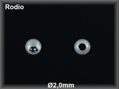 Fornitura Bola Plata 925 rodio 2 mm ref FB002R Movegranada