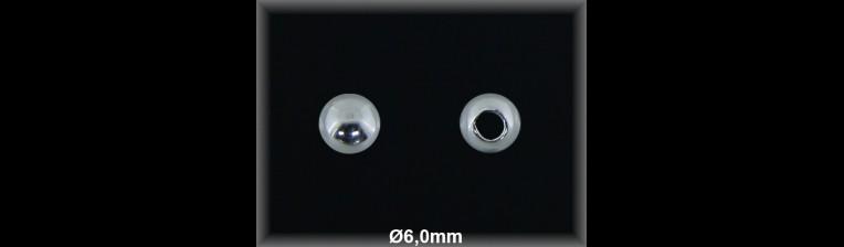 Fornitura Bola Plata 925 lisa 6 mm ref FB016 Movegranada