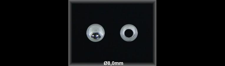 Fornitura Bola Plata 925 lisa 8 mm ref FB020 Movegranada