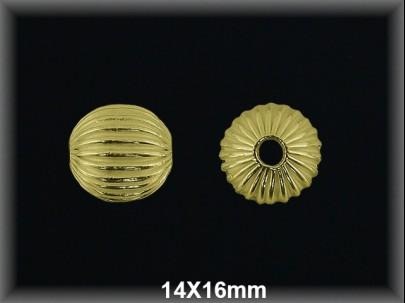 Fornitura Bola Plata 925 chapada oro ref FB081C Movegranada
