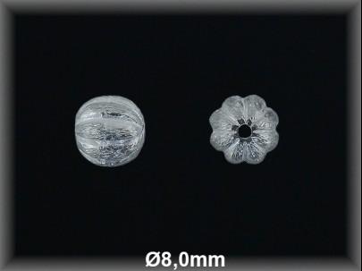 Bola plata  lisa rayada   mate 8 mm