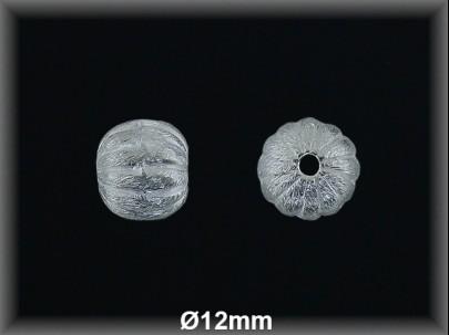 Bola plata  lisa rayada   mate 12 mm