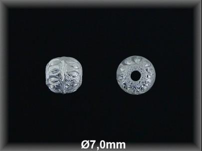 Bola plata  lisa tallada  brillo 7mm