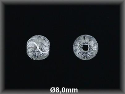 Fornitura Bola Plata 925 lisa tallada brillo ref FB180 Movegranada