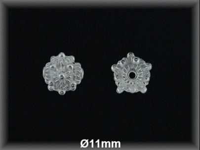 Fornitura Bola Plata 925 lisa tallada flor ref FB220 Movegranada