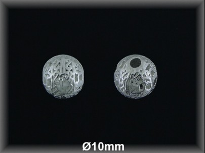Bola plata  lisa  cal  10 mm