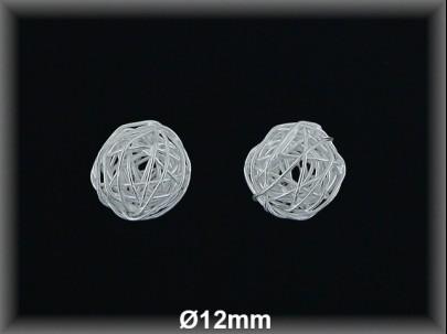 Bola plata  lisa  hilo reliado 12 mm aproximado