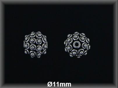 Fornitura Bola Plata 925 oxido 11 mm ref FB328 Movegranada