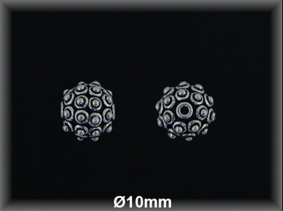 Fornitura Bola Plata 925 oxido 10 mm ref FB334 Movegranada