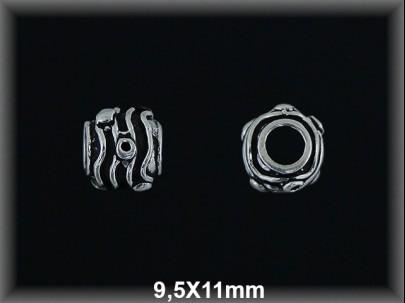 Fornitura Bola Plata 925 oxido tallada ref FB346 Movegranada