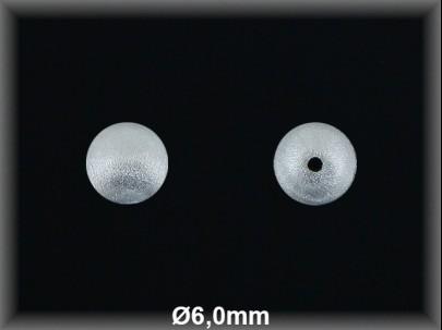 Fornitura Bola Plata 925 mate 6 mm ref FBL002 Movegranada
