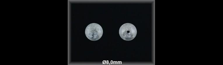 Fornitura Bola Plata 925 mate 8 mm ref FBL005 Movegranada