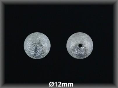 Bola plata  mate  brillo 12 mm