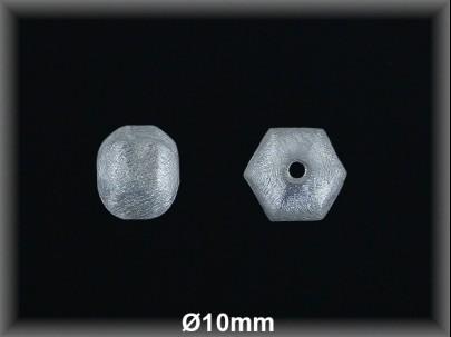 Bola plata  mate facetado  10mm
