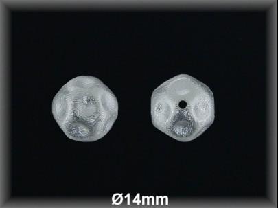 Bola plata  lisa bullon  mate 14 mm
