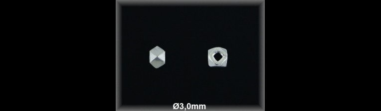 Fornitura Bola Plata 925 lisa prisma ref FBL015 Movegranada