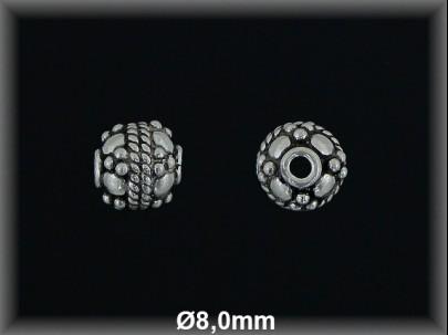 Fornitura Bola Plata 925 oxido tallada ref FBL026 Movegranada