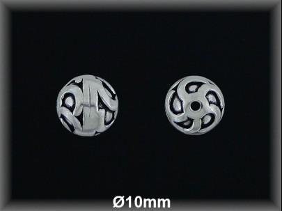 Fornitura Bola Plata 925 oxido tallada ref FBL030 Movegranada