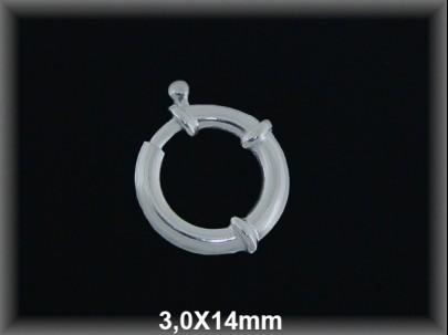 Reasa plata  3x14 mm -sin anillas-.