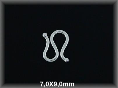 Cierre plata  - M- 7x9 mm