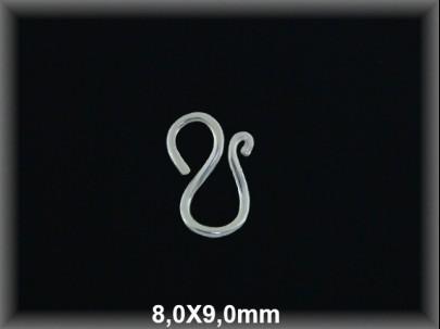 Cierre plata  -M- 8x9 mm