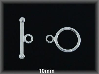 Cierre plata  aro + palo 10mm
