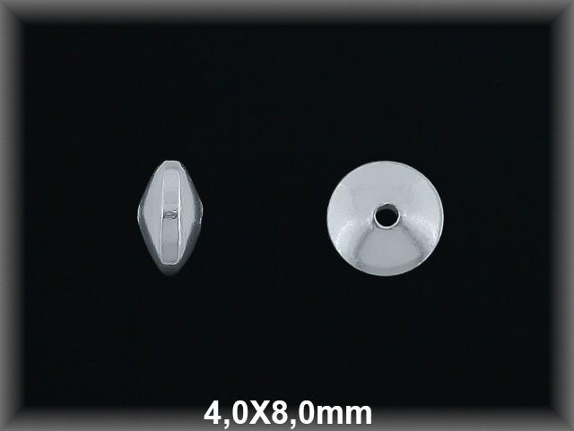 Fornitura Disco Plata 925 lisa 4x8 mm ref FD016 Movegranada