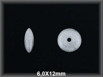 Fornitura Disco Plata 925 mate 12 mm ref FD048M Movegranada
