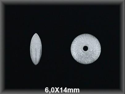 Fornitura Disco Plata 925 mate 6 mm ref FD050M Movegranada