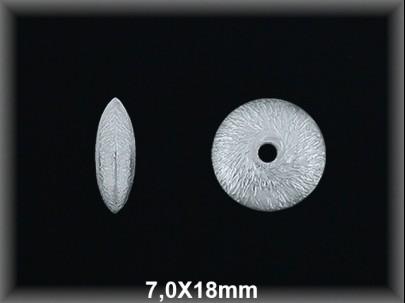 Fornitura Disco Plata 925 mate 18 mm ref FD058M Movegranada