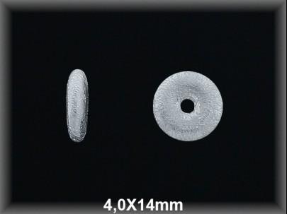 Fornitura Disco Plata 925 mate 4 mm ref FD080M Movegranada