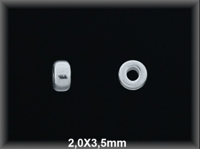 Donut plata  lisa 2 x 3.5 mm