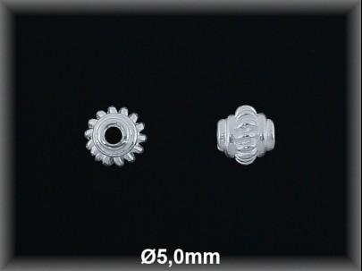 Entrepieza plata  lisa 5 x 5 mm