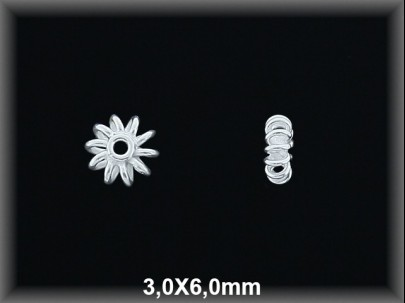 Entrepieza plata  lisa 3 x 6 mm