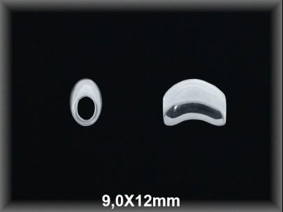 Entrepieza plata  lisa 9 x 12 mm