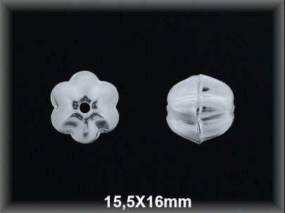 Fornitura Entrepieza plata lisa bola galloneada 15.5 x 16 mm