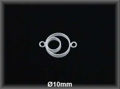 Entrepieza plata  lisa Aros 10 mm