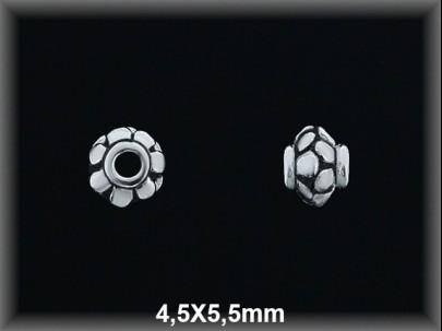 Entrepieza plata  oxido 4.5x5.5mm