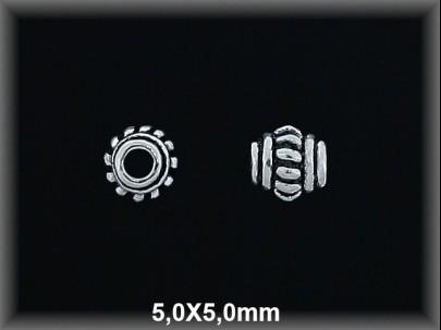 Entrepieza plata  oxido 5 x 5 mm