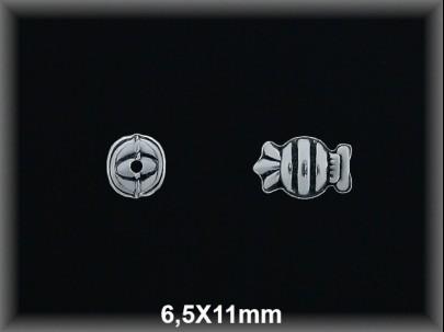 Entrepieza plata  oxido caramelo 6.5 x 11 mm