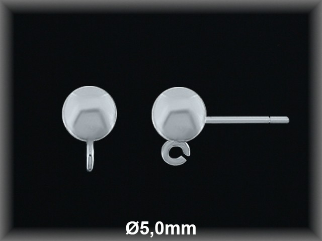 Fornitura pendientes Bola 5 mm Plata ref FP206 Movegranada