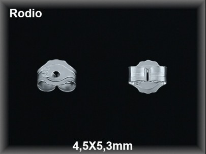 presion plata  rodio 4.5 x 5.3 mm