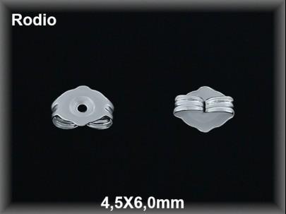 presion plata  rodio 4.5 x 6 mm