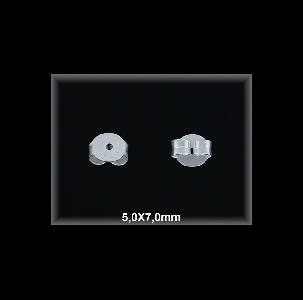 Fornitura Presion Plata 925 lisa 5x7 mm ref FPL020 Movegranada